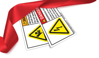 Clarion Happy Holidays Safety Labels