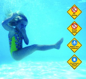 Clarion Safety Systems Pool Safety Sign System
