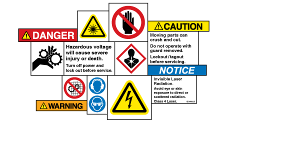 Product safety label elements