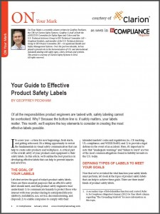 InCompliance Magazine - Clarion Safety Systems Article