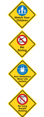 Clarion Pool Safety Signs