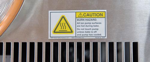 Burn Hazard - Anodized Heat Safety Label